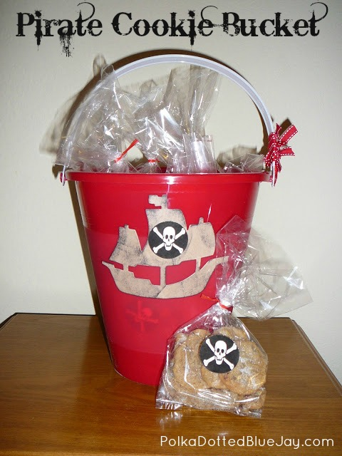 Pirate Cookie Bucket