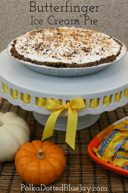 How to Make Butterfinger Ice Cream Pie