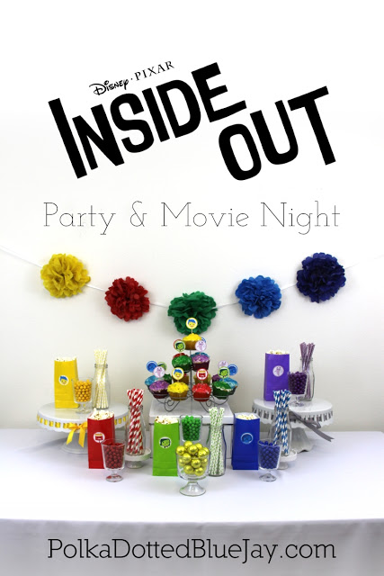 Inside Out Party and Movie Night