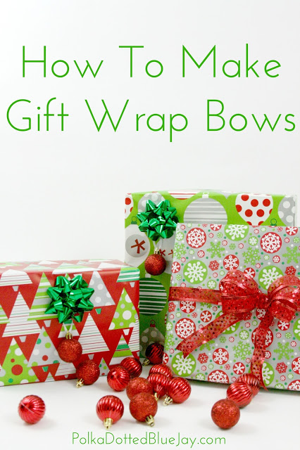 last week i told you how to wrap beautiful christmas presents with