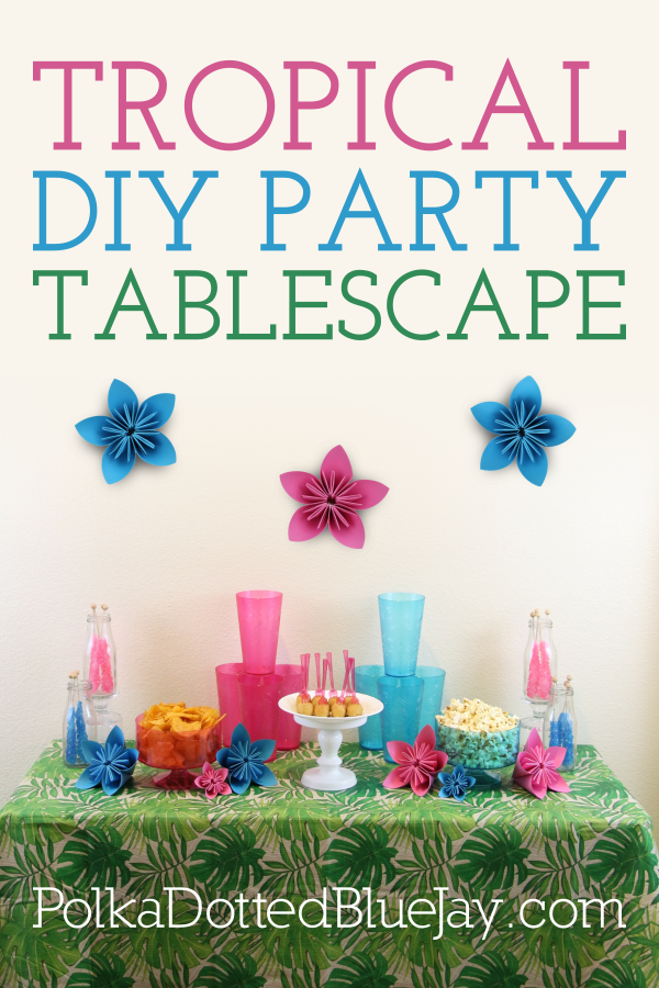 Tropical DIY Party Tablescape