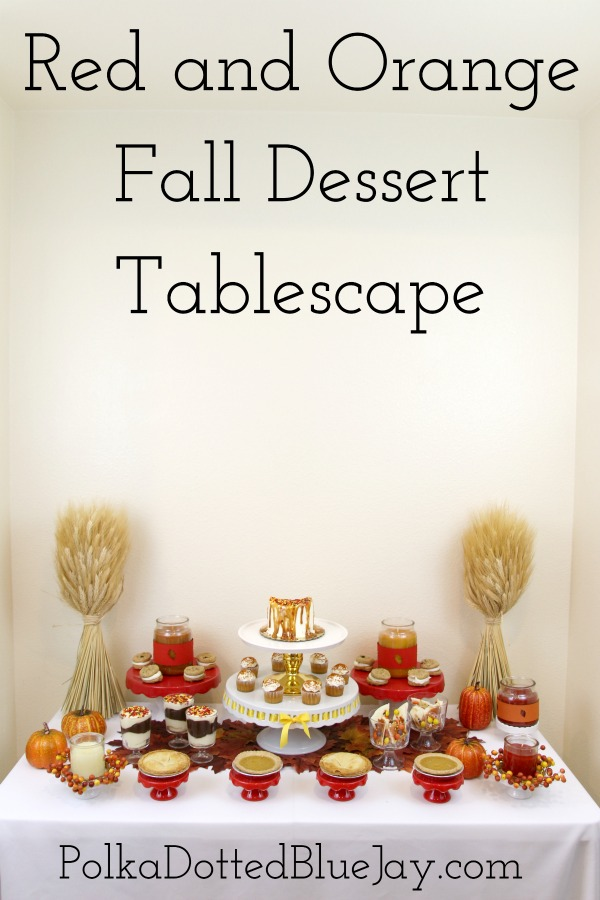 Red and Orange Fall Dessert Tablescape