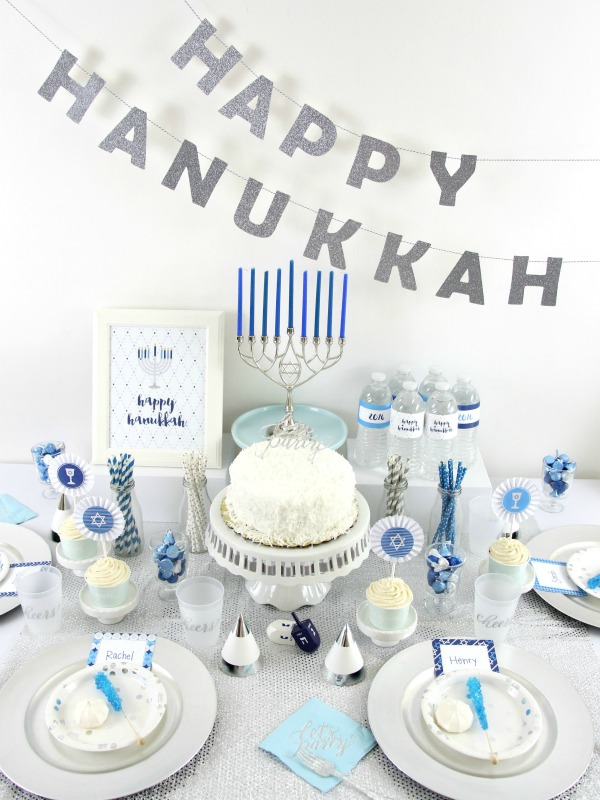 Blue and Silver Hanukkah Party