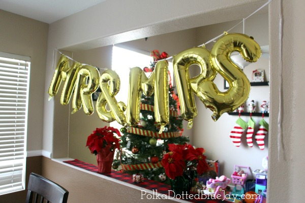 Buffalo Plaid and Poinsettia Bridal Shower