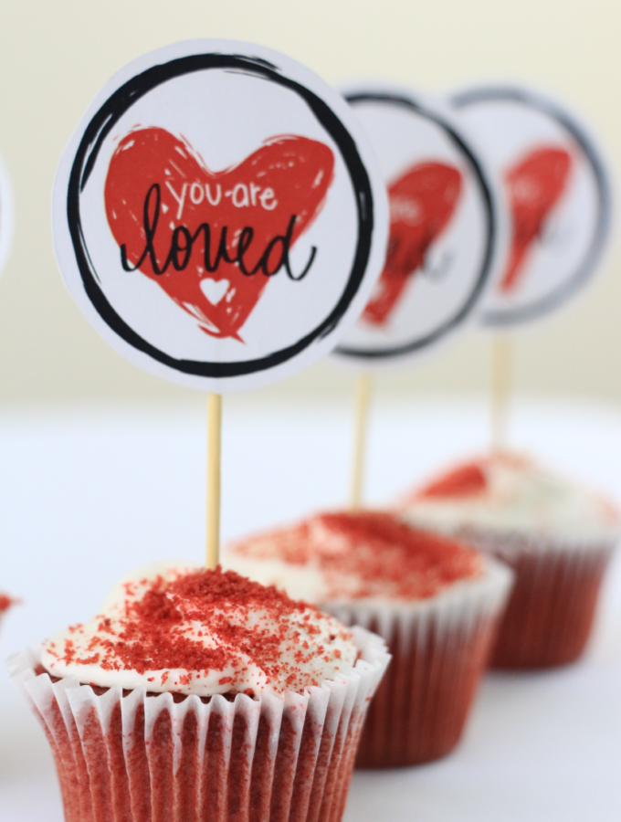 You Are Loved Valentine's Day Cupcakes