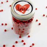 This hand lettered Valentine's Day printable can help you make a Candy Jar for your valentine in less than 5 minutes. Click through to see how it's done.