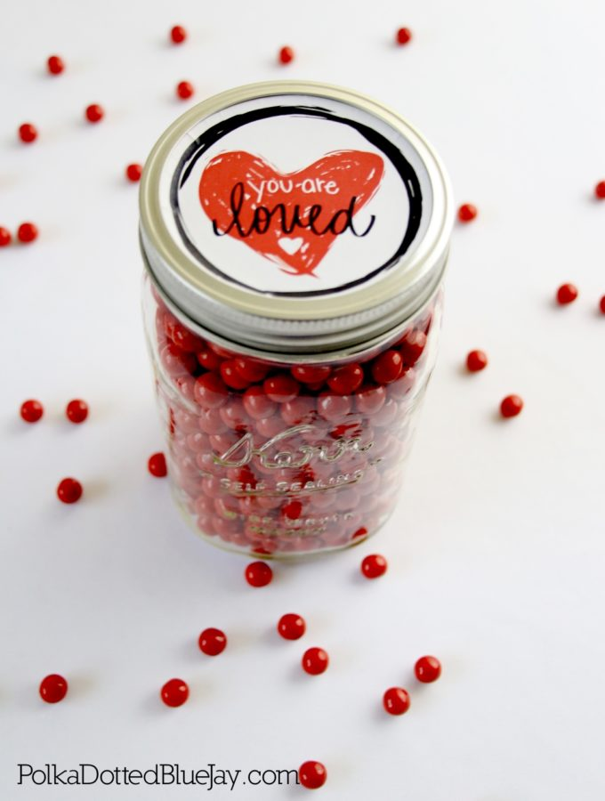 You Are Loved Valentine's Day Candy Jar