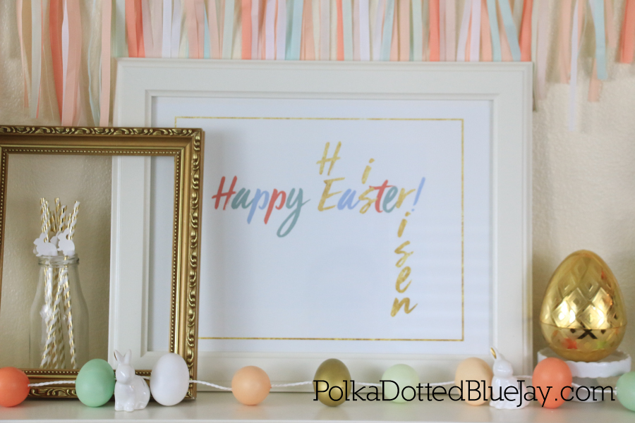 Setting up a pretty pastel Easter Mantle is easy with supplies from Target and an Etsy printable. Click through to see all the details.