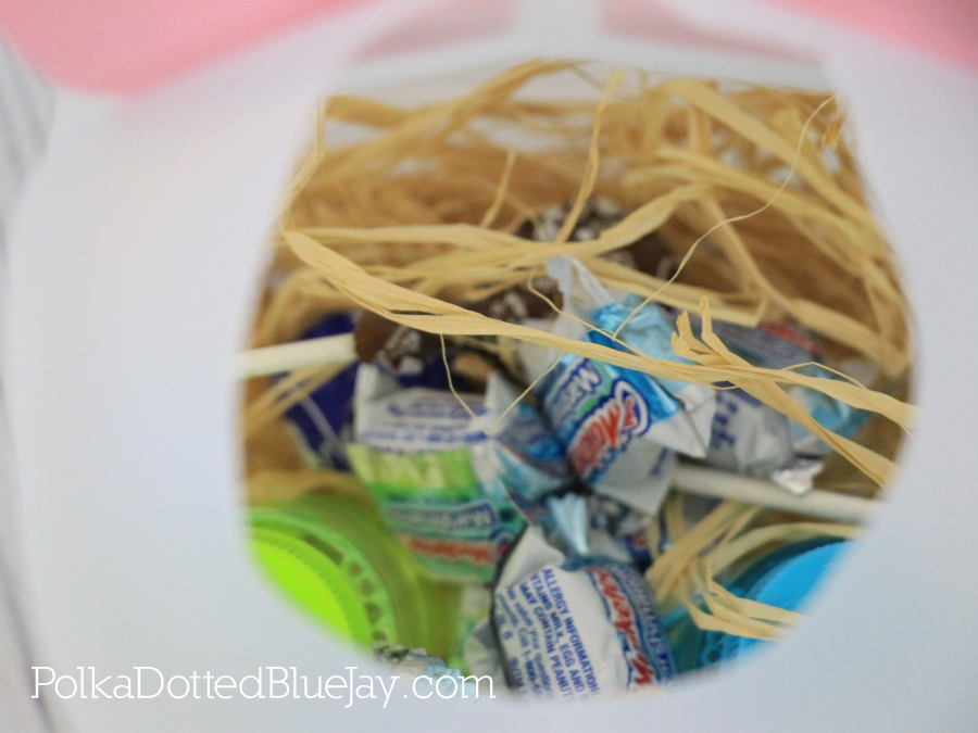 How to create an upcycled Easter Bunny Jug Basket from a milk or water jug. Click through to see the whole DIY