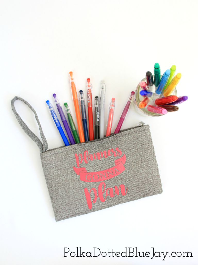 I love using FriXion erasable pens and markers to add some color to my to-do lists without having to worry about making a mistake. They erase and don't mess up my to-do list. Click here to see how to make a DIY pen pouch to help keep you organized. #ad #PilotYourLife
