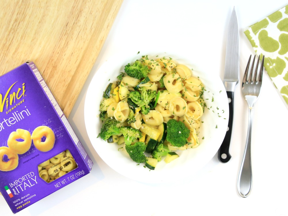 Click here for this easy Vegetable Tortellini Pasta