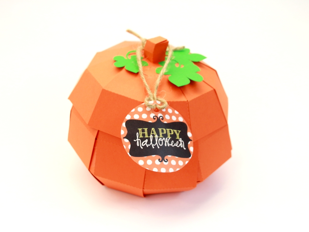 This 3D pumpkin looks adorable as part of your Halloween decor and doubles as a party favor when you fill it with candy for your guests. Click here to see how to create one for yourself!