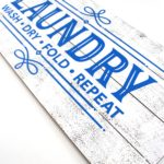 Add a little charm to your laundry room with this DIY Farmhouse Laundry Room Sign. Click here to see how easy it is to make.